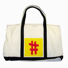 Fun Ain t Gone Fence Sign Red Yellow Flag Two Tone Tote Bag