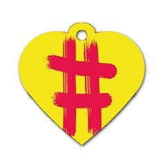 Fun Ain t Gone Fence Sign Red Yellow Flag Dog Tag Heart (one Side)