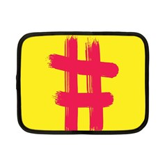 Fun Ain t Gone Fence Sign Red Yellow Flag Netbook Case (small)
