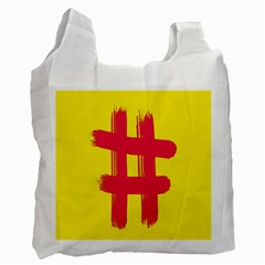 Fun Ain t Gone Fence Sign Red Yellow Flag Recycle Bag (two Side)