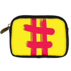 Fun Ain t Gone Fence Sign Red Yellow Flag Digital Camera Cases