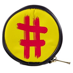 Fun Ain t Gone Fence Sign Red Yellow Flag Mini Makeup Bags