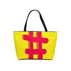 Fun Ain t Gone Fence Sign Red Yellow Flag Shoulder Handbags