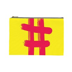 Fun Ain t Gone Fence Sign Red Yellow Flag Cosmetic Bag (large)
