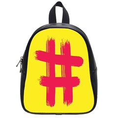 Fun Ain t Gone Fence Sign Red Yellow Flag School Bag (small)
