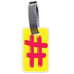 Fun Ain t Gone Fence Sign Red Yellow Flag Luggage Tags (two Sides)