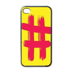 Fun Ain t Gone Fence Sign Red Yellow Flag Apple Iphone 4 Case (black)