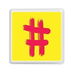 Fun Ain t Gone Fence Sign Red Yellow Flag Memory Card Reader (square)