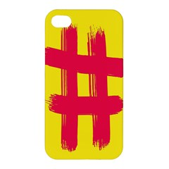 Fun Ain t Gone Fence Sign Red Yellow Flag Apple Iphone 4/4s Hardshell Case