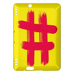 Fun Ain t Gone Fence Sign Red Yellow Flag Kindle Fire Hdx Hardshell Case