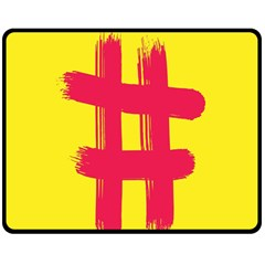Fun Ain t Gone Fence Sign Red Yellow Flag Double Sided Fleece Blanket (medium)