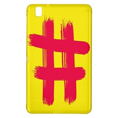 Fun Ain t Gone Fence Sign Red Yellow Flag Samsung Galaxy Tab Pro 8 4 Hardshell Case