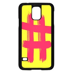 Fun Ain t Gone Fence Sign Red Yellow Flag Samsung Galaxy S5 Case (black)