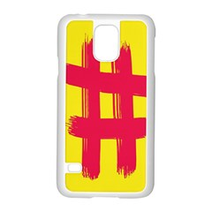 Fun Ain t Gone Fence Sign Red Yellow Flag Samsung Galaxy S5 Case (white)