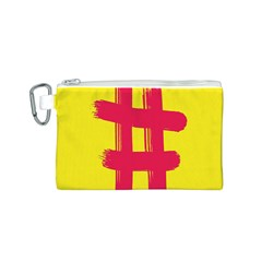 Fun Ain t Gone Fence Sign Red Yellow Flag Canvas Cosmetic Bag (s)