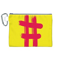 Fun Ain t Gone Fence Sign Red Yellow Flag Canvas Cosmetic Bag (xl)