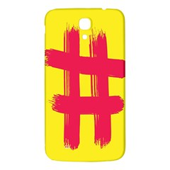 Fun Ain t Gone Fence Sign Red Yellow Flag Samsung Galaxy Mega I9200 Hardshell Back Case