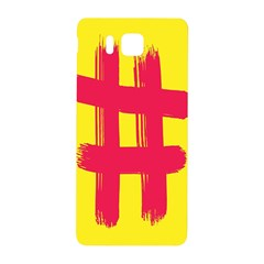 Fun Ain t Gone Fence Sign Red Yellow Flag Samsung Galaxy Alpha Hardshell Back Case