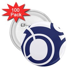 Garamond Blue White Wave Chevron 2 25  Buttons (100 Pack)