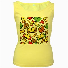Friends Library Lobby Book Sale Women s Yellow Tank Top