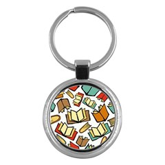 Friends Library Lobby Book Sale Key Chains (round)