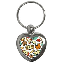 Friends Library Lobby Book Sale Key Chains (heart)