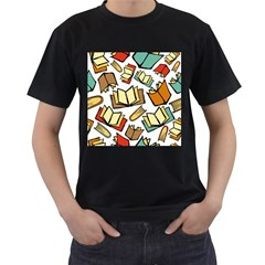 Friends Library Lobby Book Sale Men s T Shirt (black) (two Sided)