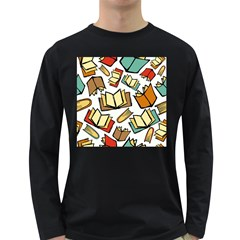 Friends Library Lobby Book Sale Long Sleeve Dark T Shirts