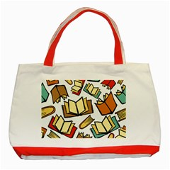 Friends Library Lobby Book Sale Classic Tote Bag (red)