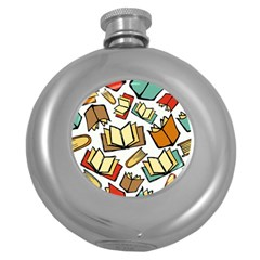 Friends Library Lobby Book Sale Round Hip Flask (5 Oz)