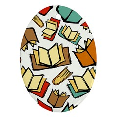 Friends Library Lobby Book Sale Oval Ornament (two Sides)