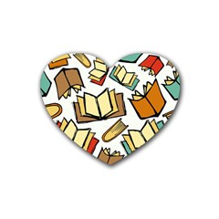 Friends Library Lobby Book Sale Heart Coaster (4 Pack)