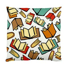 Friends Library Lobby Book Sale Standard Cushion Case (one Side)