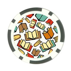 Friends Library Lobby Book Sale Poker Chip Card Guard (10 Pack)
