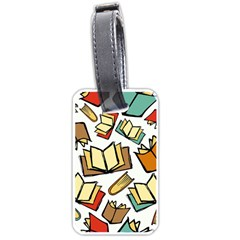 Friends Library Lobby Book Sale Luggage Tags (one Side)