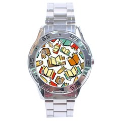 Friends Library Lobby Book Sale Stainless Steel Analogue Watch