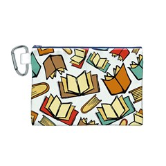 Friends Library Lobby Book Sale Canvas Cosmetic Bag (m)