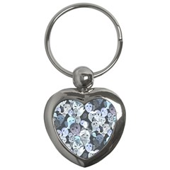 Ghosts Blue Sinister Helloween Face Mask Key Chains (heart)