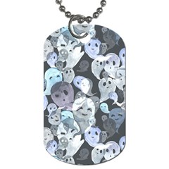 Ghosts Blue Sinister Helloween Face Mask Dog Tag (one Side)