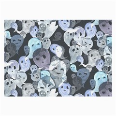 Ghosts Blue Sinister Helloween Face Mask Large Glasses Cloth
