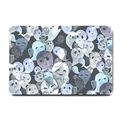 Ghosts Blue Sinister Helloween Face Mask Small Doormat