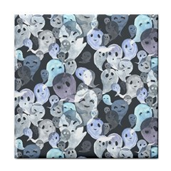 Ghosts Blue Sinister Helloween Face Mask Face Towel