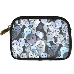 Ghosts Blue Sinister Helloween Face Mask Digital Camera Cases