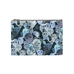 Ghosts Blue Sinister Helloween Face Mask Cosmetic Bag (medium)