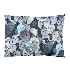 Ghosts Blue Sinister Helloween Face Mask Pillow Case (two Sides)