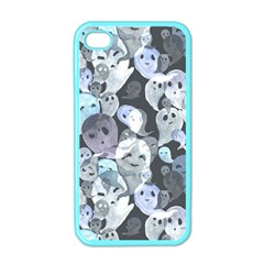 Ghosts Blue Sinister Helloween Face Mask Apple Iphone 4 Case (color)