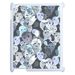 Ghosts Blue Sinister Helloween Face Mask Apple Ipad 2 Case (white)