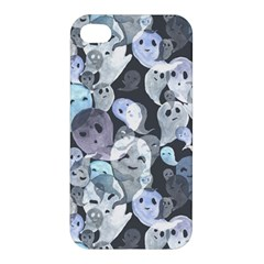 Ghosts Blue Sinister Helloween Face Mask Apple Iphone 4/4s Hardshell Case
