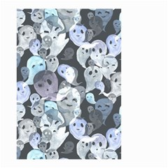 Ghosts Blue Sinister Helloween Face Mask Small Garden Flag (two Sides)