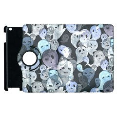 Ghosts Blue Sinister Helloween Face Mask Apple Ipad 3/4 Flip 360 Case